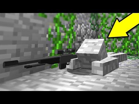INVISIBLE MINECRAFT CAMO SNIPER TROLL! (Minecraft Trolling)