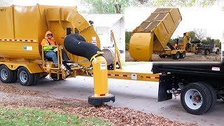 How to automobile vacuum cleaner collects fallen leaves | Technology