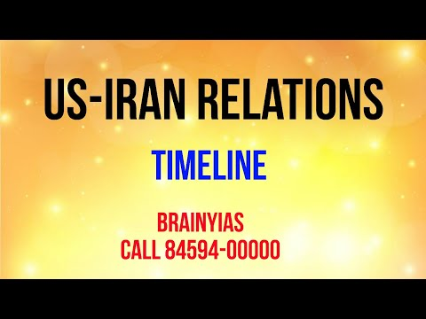 US Iran Relations Timeline 2017- The Hindu Editorial Decode 5-10-17
