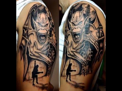 AC/DC Tattoo Tribute Timelapse