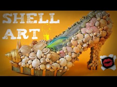 shell art d co en coquillages vintage youtube. Black Bedroom Furniture Sets. Home Design Ideas