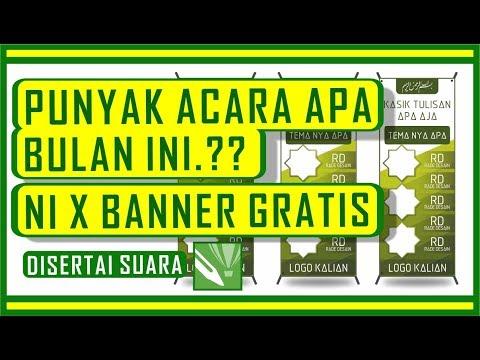 free banner template - desain x banner coreldraw - YouTube