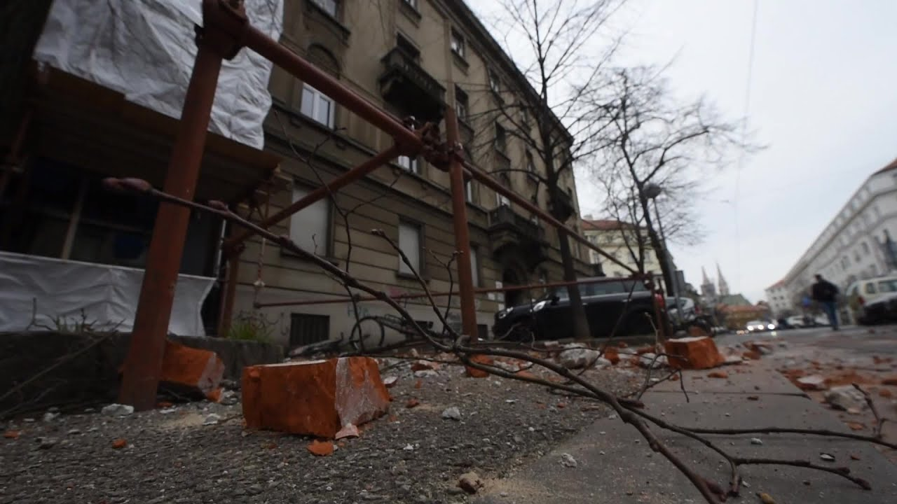 The Streets Of Zagreb After 5 3 Magnitude Earthquake Hits Croatian Capital Afp Youtube