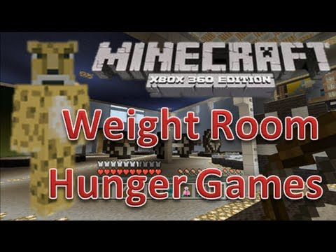 minecraft xbox 360 hunger games weight room map