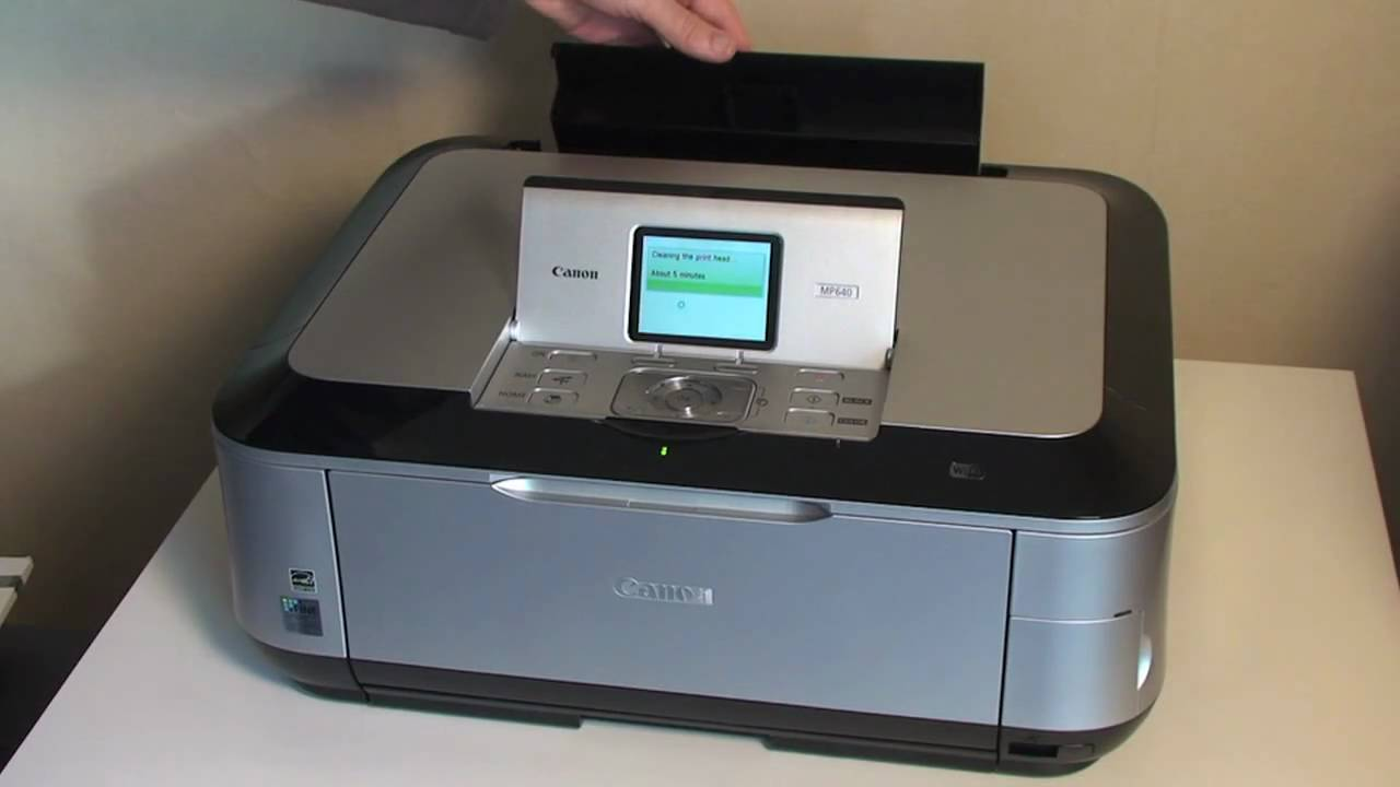 canon pixma mp640 all in one printer set up guide part 1 youtube rh youtube com Canon PIXMA All in One Canon PIXMA Ink Replacement