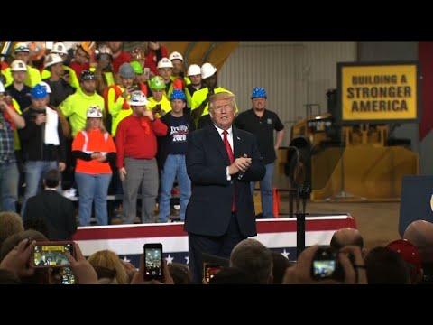 Trump at Ohio rally talks S.Korea trade deal, Mexico ...