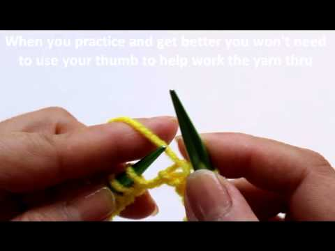 Learn To Knit Purl Stitch Youtube