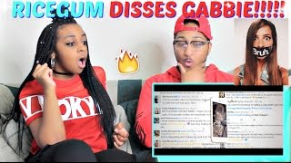 """Ricegum """"TheGabbieShow Lied about Being Abused!!!(MY BEST DISS TRACK)"""" REACTION!!!!"""