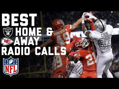 Best Home & Away Radio Calls from Raiders Crazy Comeback Win Over Chiefs!   NFL Highlights
