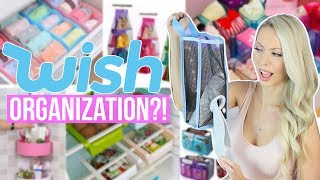 Trying Wish Organization Products!