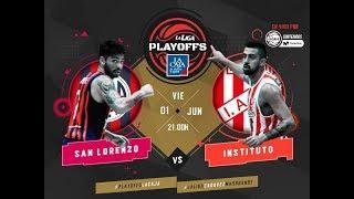 Liga Nacional: San Lorenzo vs. Instituto   #LaLigaEnTyCSports