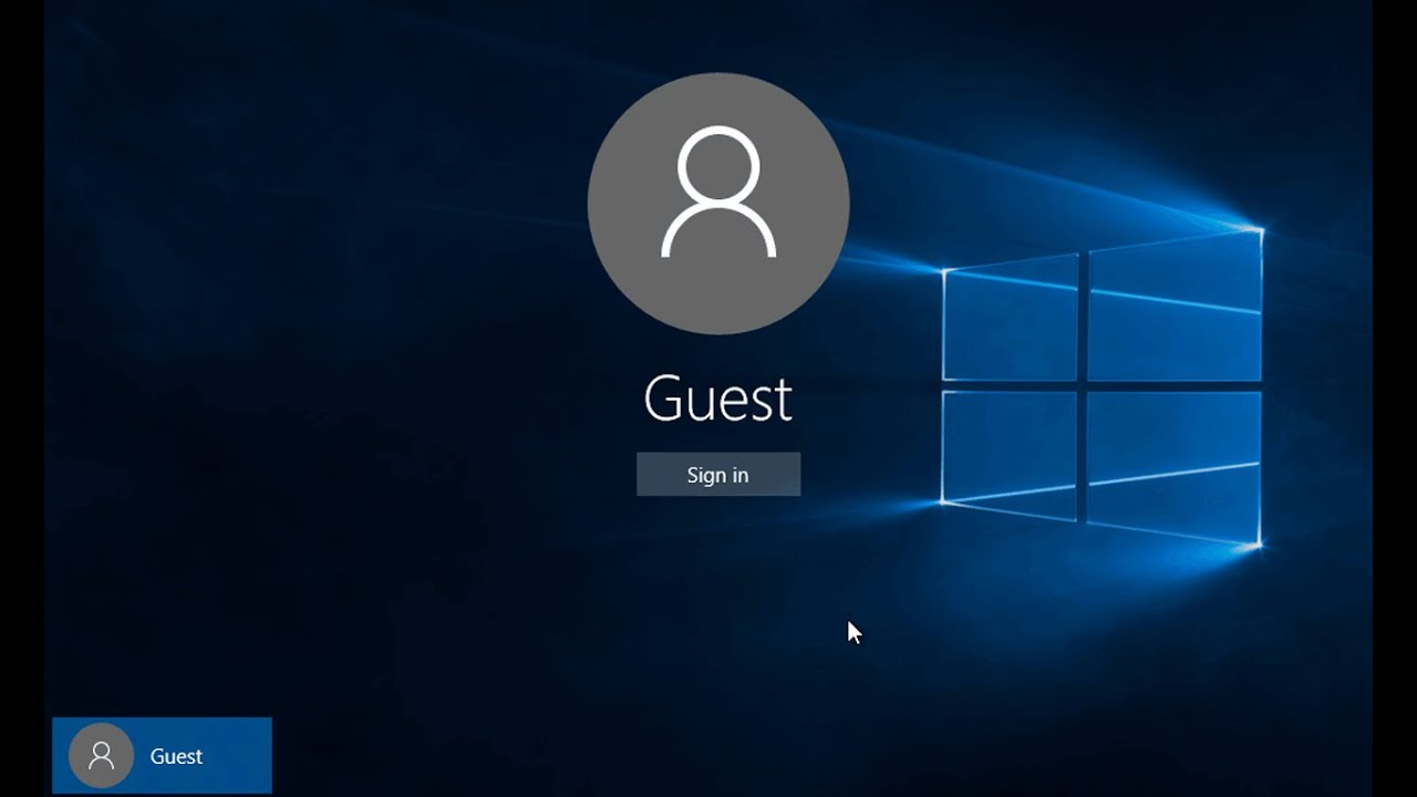 How to Create a Guest User Account In Windows 10