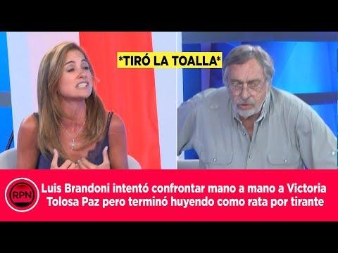 Luis Brandoni intentó confrontar a Victoria Tolosa pero terminó huyendo como rata