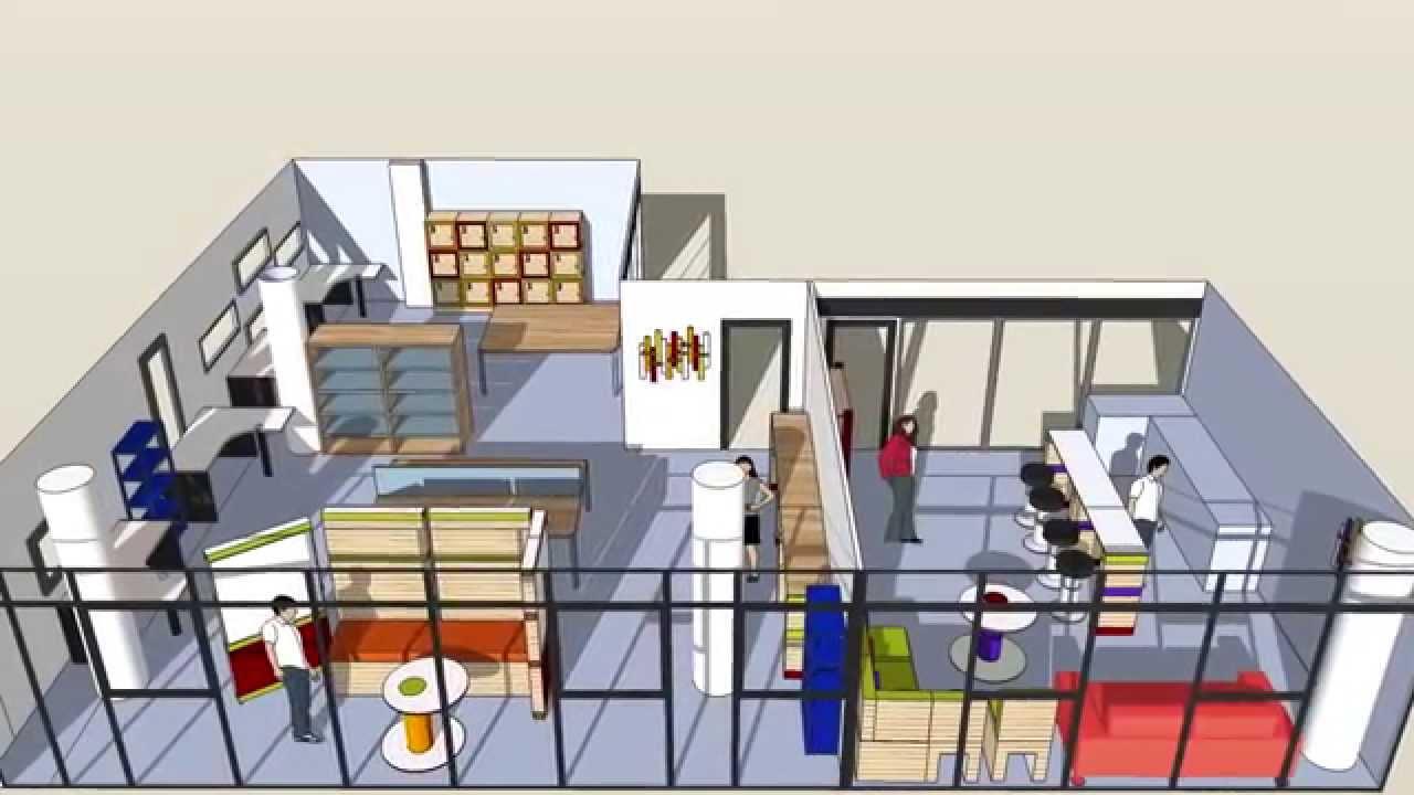 am nagement espace co working basic youtube. Black Bedroom Furniture Sets. Home Design Ideas