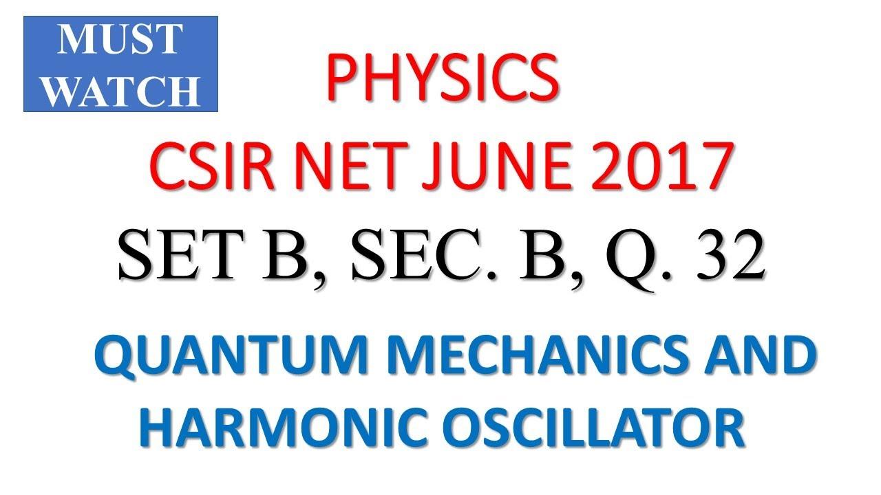 CSIR NET PHYSICS ANSWER KEY, JUNE 2017, Q  32