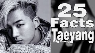 TOP 25 fascinating FACTS about TAEYANG [BIG BANG] | Everything about Taeyang