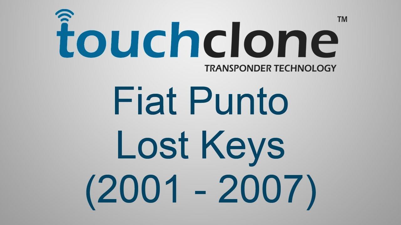 Creating Keys for a Fiat Punto (2001 - 2007) using Touchclone  Lost Keys