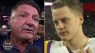 Ed Orgeron brought to tears, Joe Burrow reflects on LSU's win vs. Alabama | College Football on ESPN