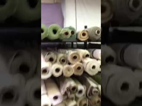 Shopping at the fabric warehouse