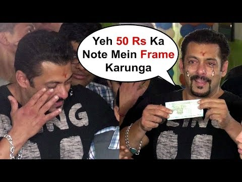 EMOTIONAL Salman Khan CRIES After Getting A Gift From Children For Donating 15 Crores To Ther School