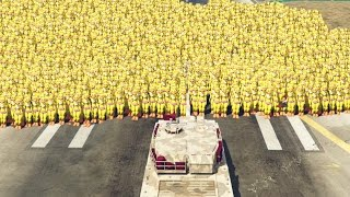 1000 animatronics vs world s fastest tank gta 5 mods fnaf funny moments