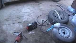Краскопульт + автокомпрессор.