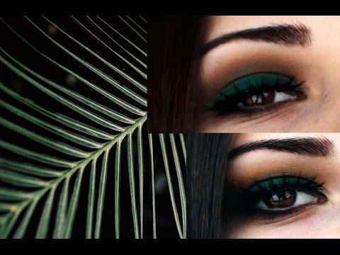 Макияж в зеленых тонах☼Выразительный макияж☼Макияж для карих глаз