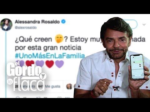 ¿Bebé a bordo?: Eugenio Derbez casi se va para atrás por el tuit de su esposa  GYF