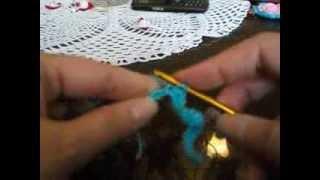 Обучение вязанию крючком. Урок № 2. Столбики без накида.