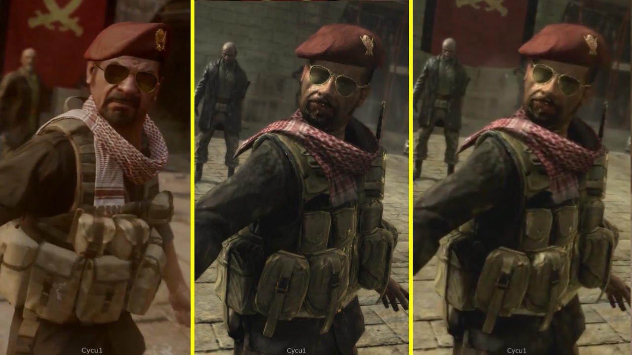 Call Of Duty Modern Warfare Remastered Ps4 Vs Ps3 Vs Pc Original