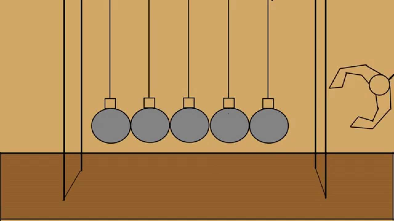 pendulum 1 (Newtons Cradle) Traditional Animation - YouTube