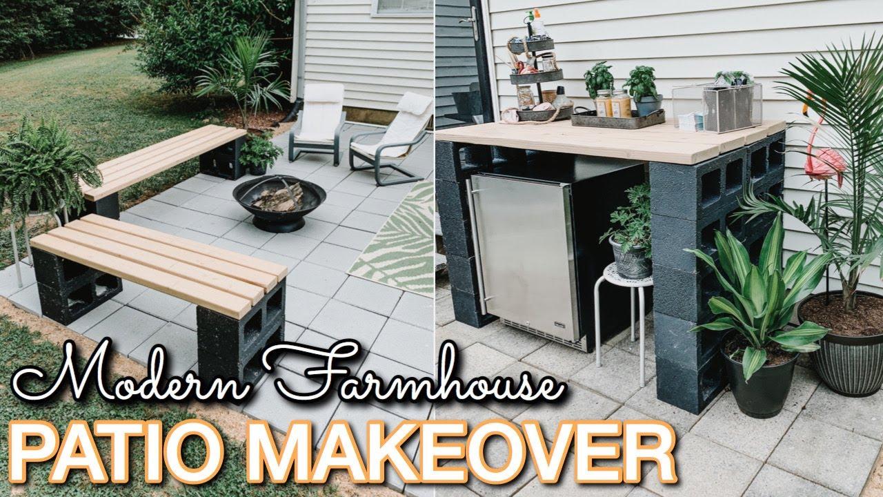 diy patio makeover on a budget decorating ideas modern farmhouse patio patio diy