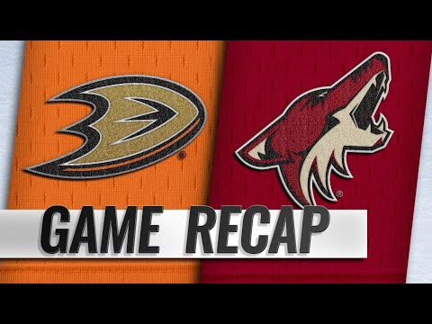Gibson, Comtois lead Ducks to 1-0 win against Coyotes