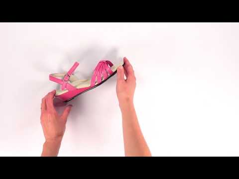 Video for Strippy Quarter Strap Wedge Sandal this will open in a new window