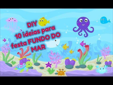 DIY/ 10 ideias para festa com tema fundo do mar, ideias de decoração e lembrancinhas.