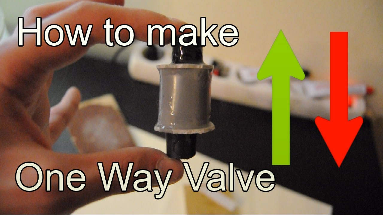 Diy How To Make Check Valve Using A Pvc Pipe One Way