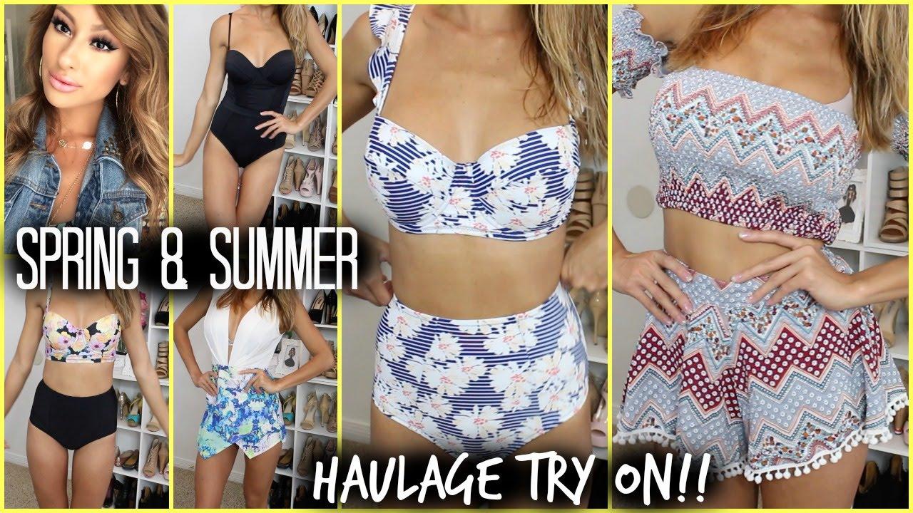 968558dbb70f6 SPRING SUMMER HAUL- TRY ON!! High waist bikinis