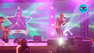 Patapaa performs at Glo Mega Music Show