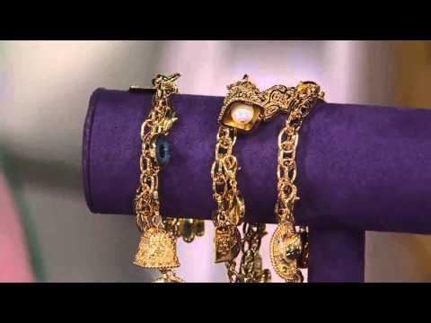 The Elizabeth Taylor 5 Charm Bracelet on QVC
