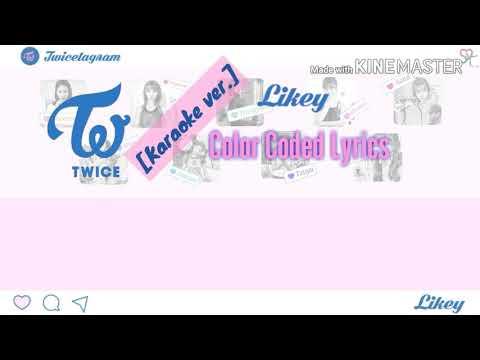 Twice (트와이스) - Likey [Karaoke ver.] Color Coded Lyrics [Kpop]