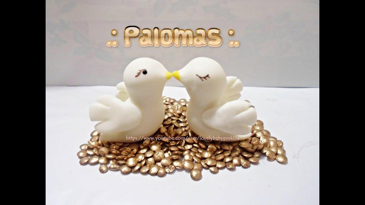 como hacer palomas porcelana fria boda bautizo recuerdos faciles youtube