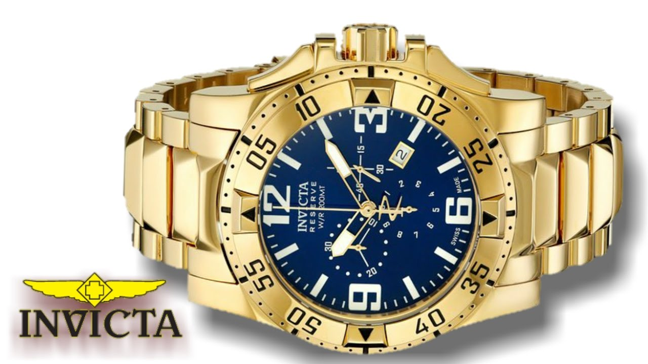 af295453a9a Invicta Men s Reserve Collection Excursion Chronograph 18k Gold Plated  Watch 5676