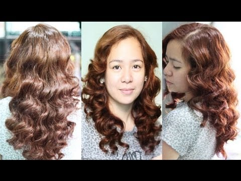 no-heat-car-sponge-curls-for-layered-hair--inspired-heatless-margaux-curls-ina-kapatid-anak