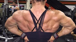 Cardio • FBB Heavy Back Workout • Female Bodybuilder Helle Trevino