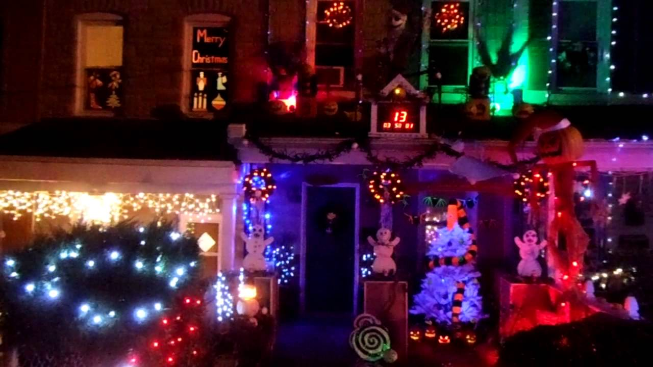 Nightmare Before Christmas House In Hampden Baltimore YouTube - Nightmare Before Christmas Light