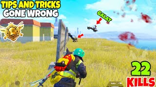 This is What Happens When Tips & Tricks Goes Wrong in PUBG Mobile • (22 KILLS) • PUBGM