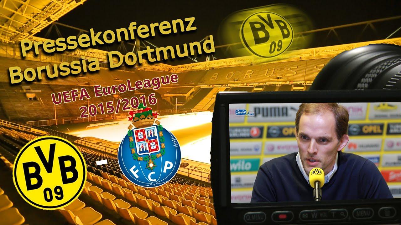 Borussia Dortmund - FC Porto: Pk mit Thomas Tuchel und Marcel Schmelzer