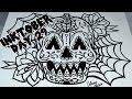 INKtober Day 29 - Drawing a Halloween Themed Sugar Skull Tattoo Style Design