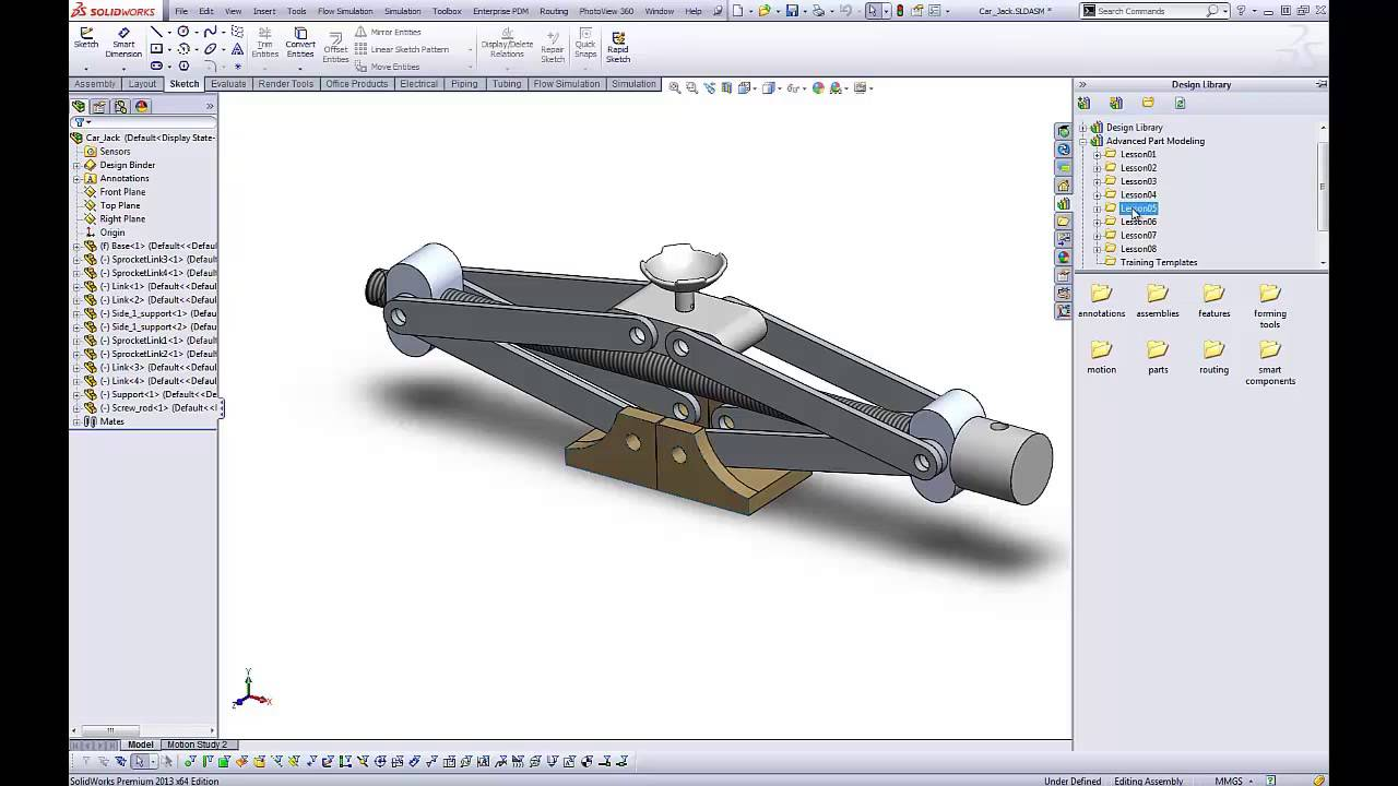 how to add design library in solidworks