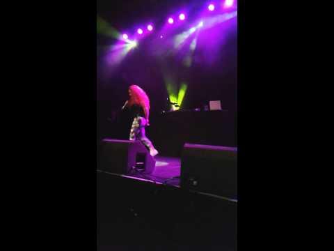 Megan Quigg singing at the o2 ABC